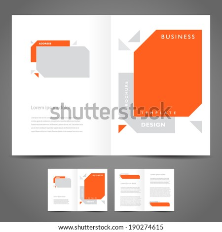 brochure design booklet template vector geometric abstract - stock vector