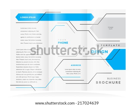 brochure design booklet template vector geometric abstract lines - stock vector