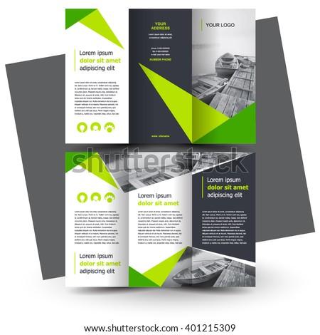 Brochure design, brochure template, creative tri-fold, trend brochure - stock vector