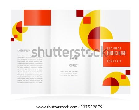 brochure design, brochure template tri-fold geometric abstract - stock vector