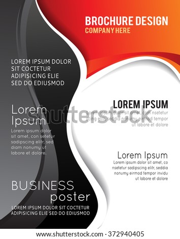 Brochure design content background with circles. Design layout template