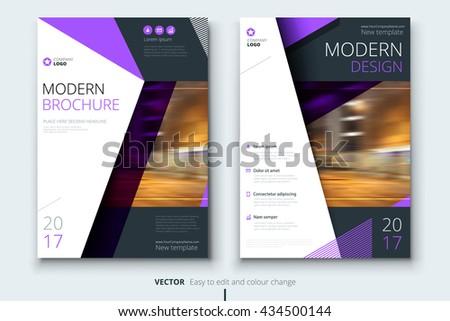 Brochure Templates Design Modern Purple