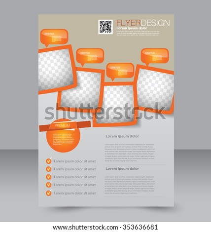 editable brochure templates - flyer layout stock images royalty free images vectors