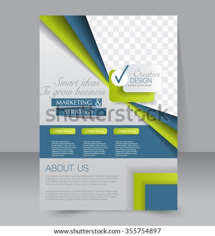 Brochure Design Flyer Template Editable A 4 Stock Vector 355754897