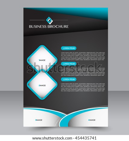 Brochure Design Flyer Template Editable A 4 Stock Photo Photo