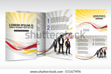brochure design for Business artworks. Vector illustration. - stock vector