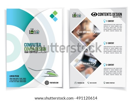 Brochure Design Business Computers Computer Exhibition Stock Vector