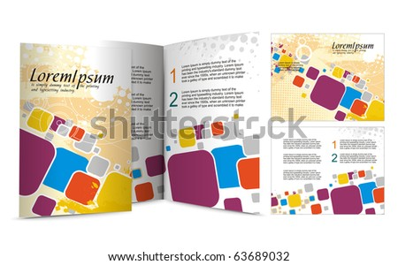 brochure design for night club, vector illustartion. - stock vector