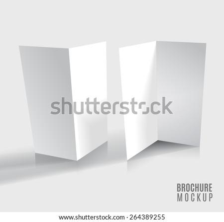 Brochure design isolated on grey - stock vector