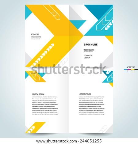 brochure design template booklet abstract arrows - stock vector