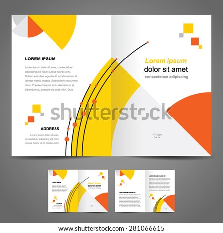 brochure design template booklet circles - stock vector