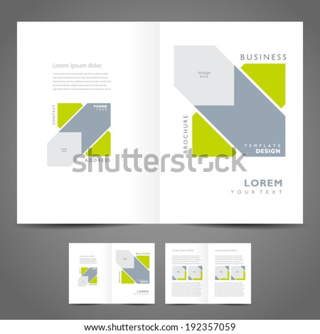 brochure design template booklet vector geometric abstract figure - stock vector