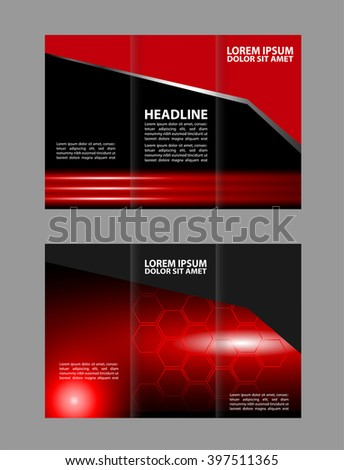 brochure design template colored stripes transparent  - stock vector