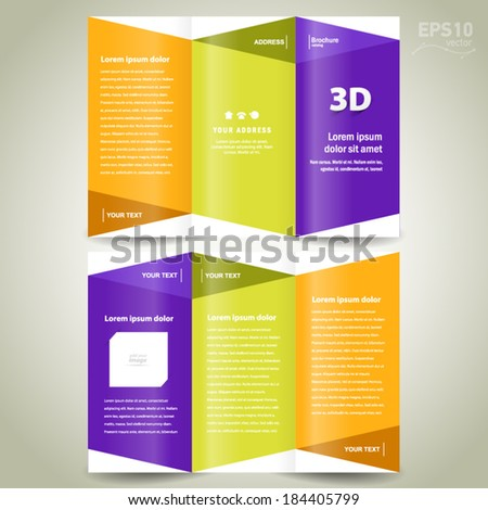 3d brochure template - extensional stock images royalty free images vectors