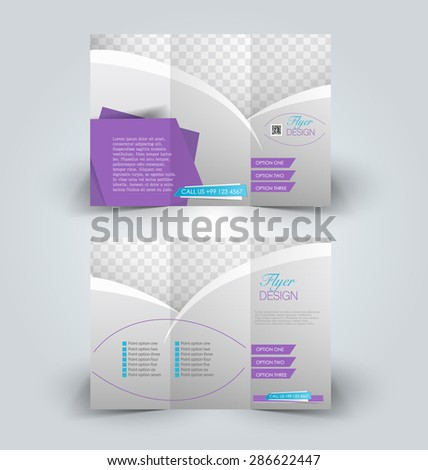 brochure design template business education advertisement stock