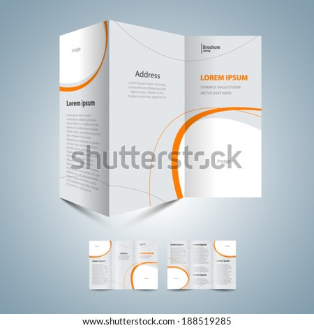 brochure design template - frame for image - stock vector