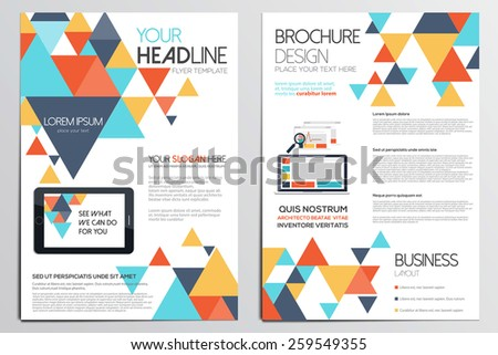 Brochure design template geometric shapes abstract stock vector brochure design template geometric shapes abstract modern backgrounds infographic conceptflat design toneelgroepblik