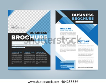 Brochure design template. Layout brochure. Vector brochure. Brochure layout design. Brochure blank page. Concept of business brochure. Presentation page. Advertise template design. Document template. - stock vector
