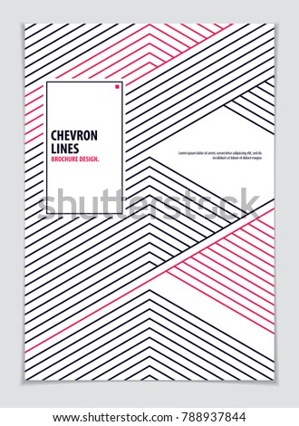 Brochure Design Template Minimal Design Modern Stock Vector ...