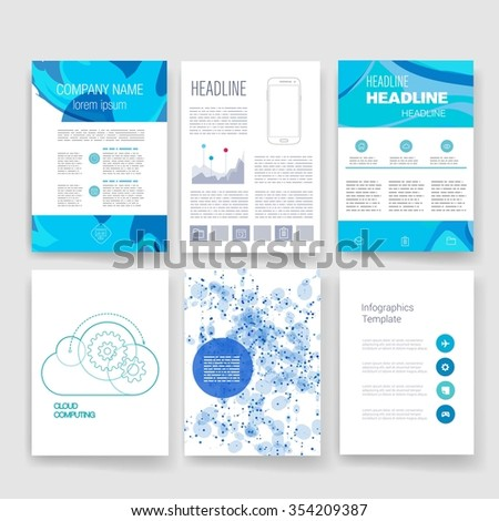 Brochure Design Template Set Templates Design Stock Photo Photo