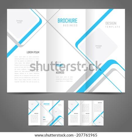 brochure design template stripes - stock vector