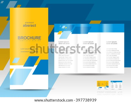 Brochure design template tri-fold abstract - stock vector