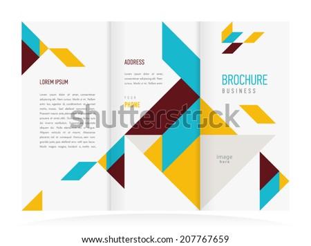 brochure design template vector - stock vector