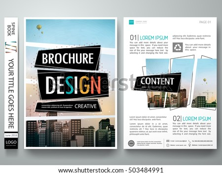 Brochure Design Template Vector Abstract Square Stock Vector ...
