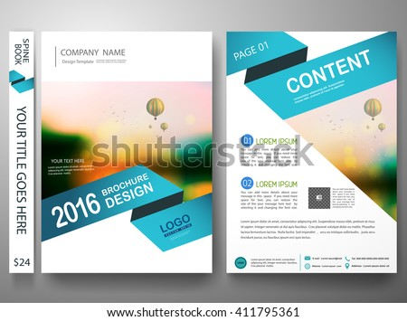 Brochure design template vector.Flyers report business magazine poster template.Cover book portfolio presentation and abstract blue shape on poster design.City design on brochure background.A4 layout. - stock vector