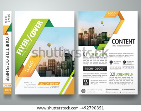 Brochure design template vector.Flyers report business magazine poster layout portfolio template.Abstract square in cover book portfolio presentation poster design.City design on A4 brochure layout.