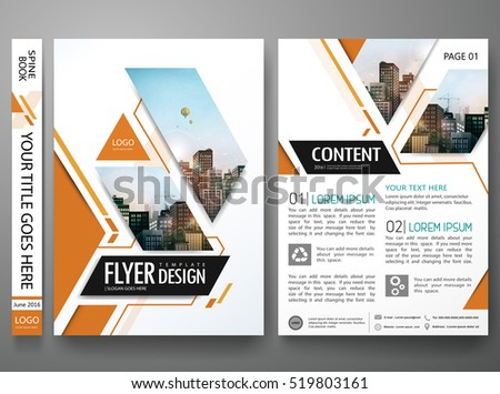 Brochure design template vector.Square layout in cover book portfolio presentation poster.City design on A4 brochure layout.Minimal flyers report business magazine poster layout portfolio template.