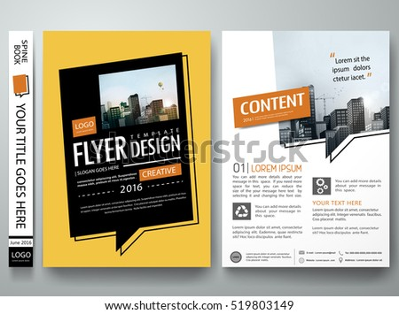 Brochure design template vector.Text box layout in cover book portfolio presentation poster.City design on A4 brochure layout.Minimal flyers report business magazine poster layout portfolio template.
