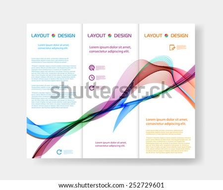 brochure design templates, easy editable - stock vector