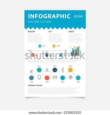 Brochure Design Templates. Mobile Technologies, Applications and Online Services Infographic Concept. Diagrams, Charts and Options for Prints, Flyers, Banners and Websites Design. - stock vector