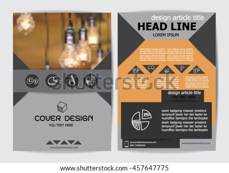 Brochure Design Templates or flyer layout, A4 size - stock vector