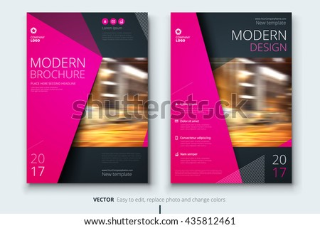 Brochure Design Corporate Business Template Annual Vector – Fashion Design Brochure Template