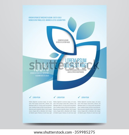 Brochure, flyer, annual report, magazine cover vector template. Modern corporate design. - stock vector