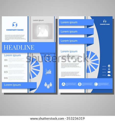 Brochure Flyer design Layout template, size A4, Front page and back page design eps 10 - stock vector