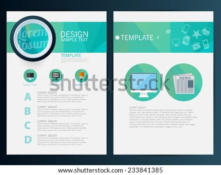 Brochure Flyer design vector template - stock vector