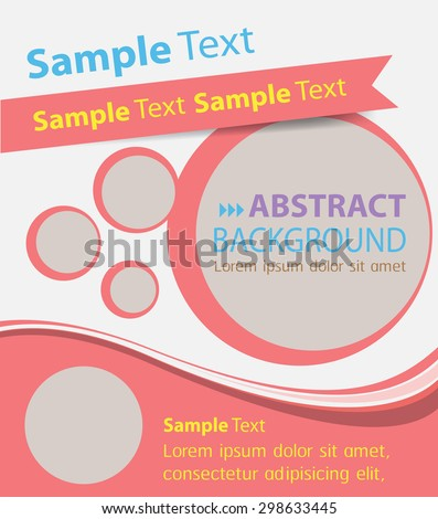 brochure, flyer, magazine cover. red white template. Card Business Set. Folder Design Template. banner. label. Leaflet Abstract Technology background for computer graphic website internet. text box. - stock vector