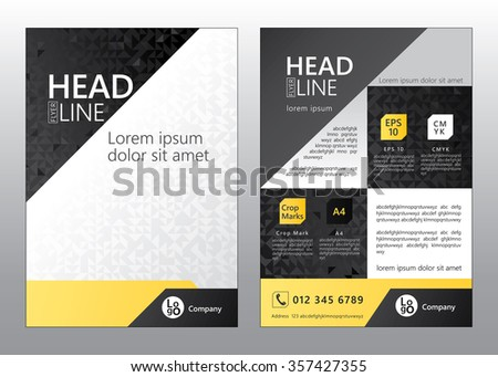Brochure Flyer Template Design Geometric Pattern Stock Vector