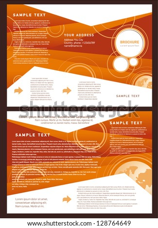 brochure folder globe element design / cmyk, no transparent - stock vector
