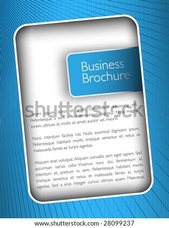 Brochure frame - stock vector