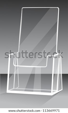 Brochure holder - stock vector