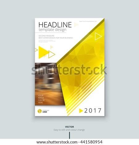 Brochure Layout Design Corporate Business Template Stock Vector