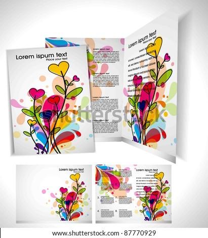 Brochure Layout Design Template - stock vector