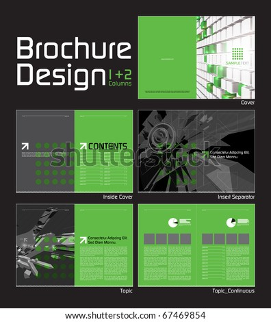 Brochure layout design template 10 pages stock vector 67469854 brochure layout design template with 10 pages 5 spreads preview pronofoot35fo Images