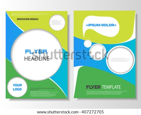 Brochure leaflet. Flyer leaflet. Brochure printable layout, flyer empty template. A4 size. Banner design. Flyer brochure. Magazine cover, poster. Business concept. Vector illustration, eps 10