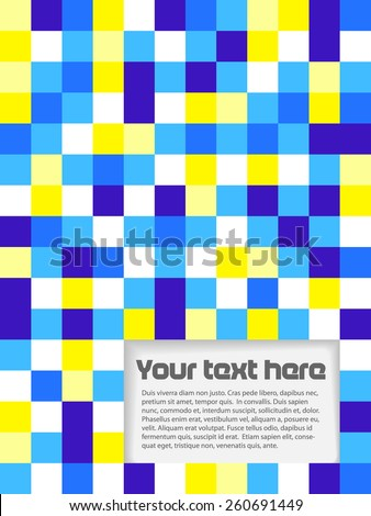 Brochure made from color squares - stock vector