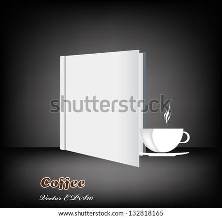 Brochure menu for restaurant, cafe.Coffee and tea. Vector - stock vector